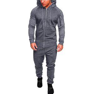 3f3c342b9e SURVÊTEMENT Sweat-shirt de poche Automne Hiver hommes Top Pant