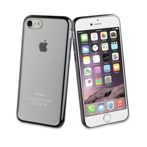 COQUE - BUMPER Muvit Coque Crystal Bump Noir pour Apple iPhone 7