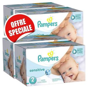 COUCHE 300 Couches Pampers New Baby Sensitive taille 2