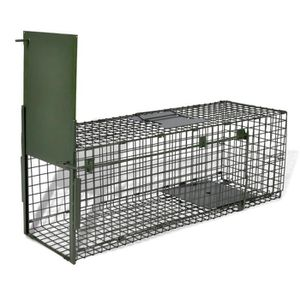 CAGE 80 x 25 x 25 cm Cage piège pour animaux chats chie