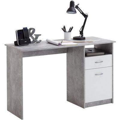 Bureau en bois coloris Light Atelier-blanc avec 1 tirois et 1 porte ... 87380914953