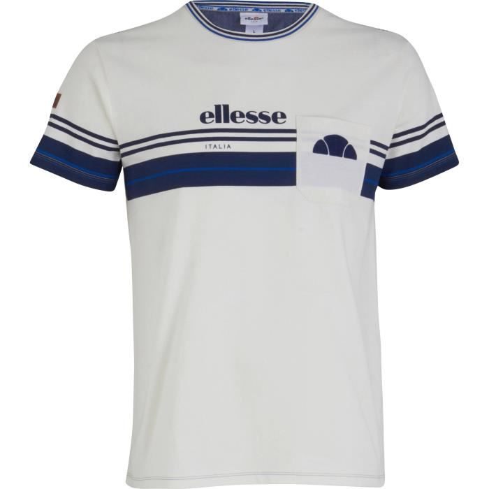 ELLESSE T-Shirt Caly 7 - Homme - Blanc