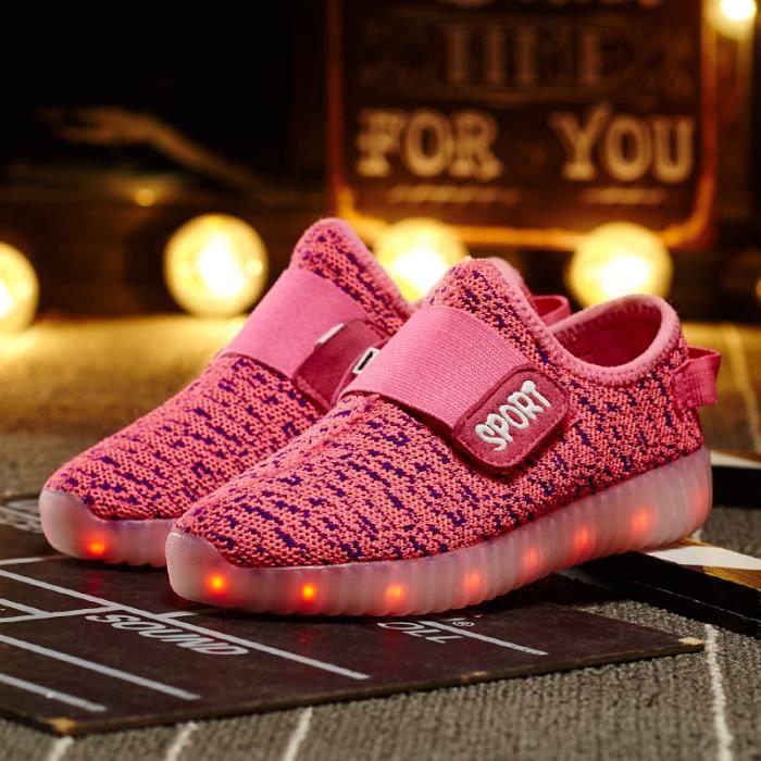 36'' Chaussures avec Lumineux 7 Couleurs du changement pour Enfant - Rose