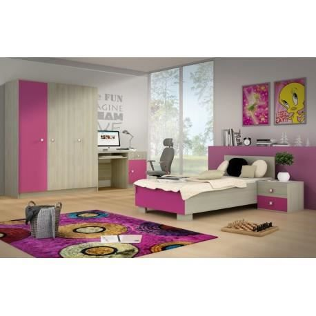 Chambre complète MIKADO bois rose - Achat / Vente chambre complète ...