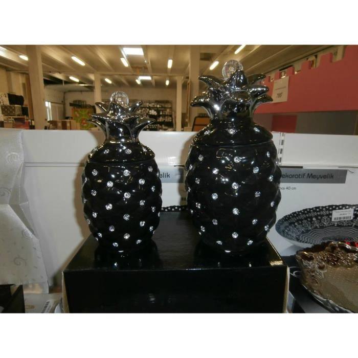 decoration ananas noir. Black Bedroom Furniture Sets. Home Design Ideas