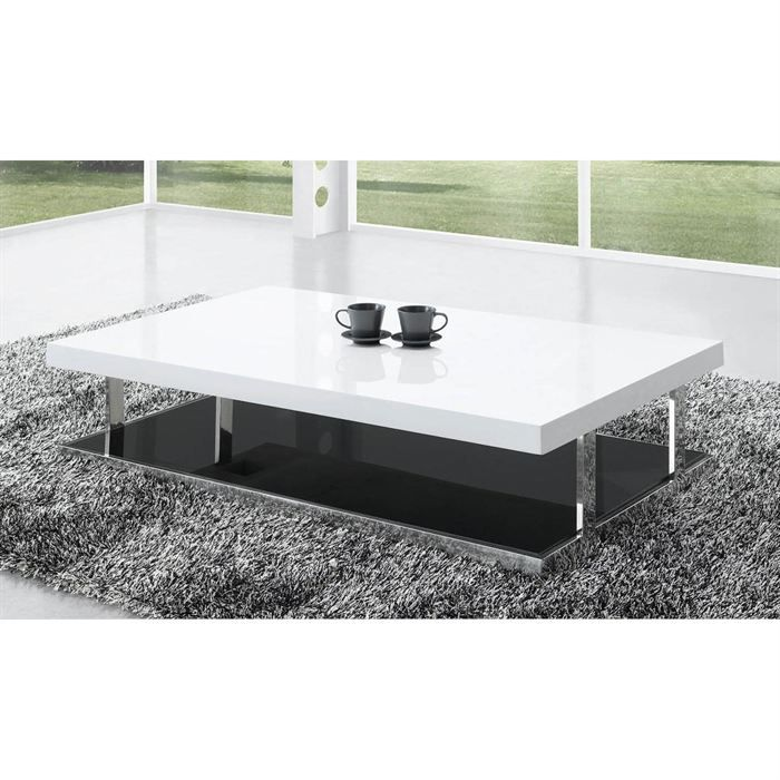 Table Basse Laquée Blanc Elora Achat Vente Table Basse Table