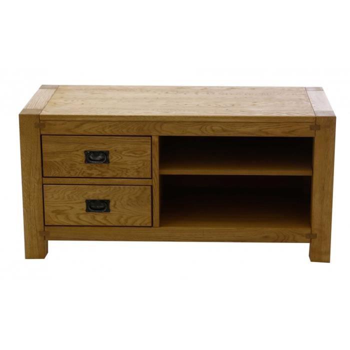 Meuble tv ch ne 120 cm long re couleurs des alpes achat vente meuble tv meuble tv ch ne - Meuble tv 120 cm ...