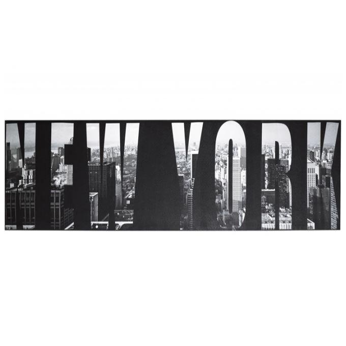 tableau noir et blanc new york 45 x 140 cm achat vente tableau toile toile bois cdiscount. Black Bedroom Furniture Sets. Home Design Ideas