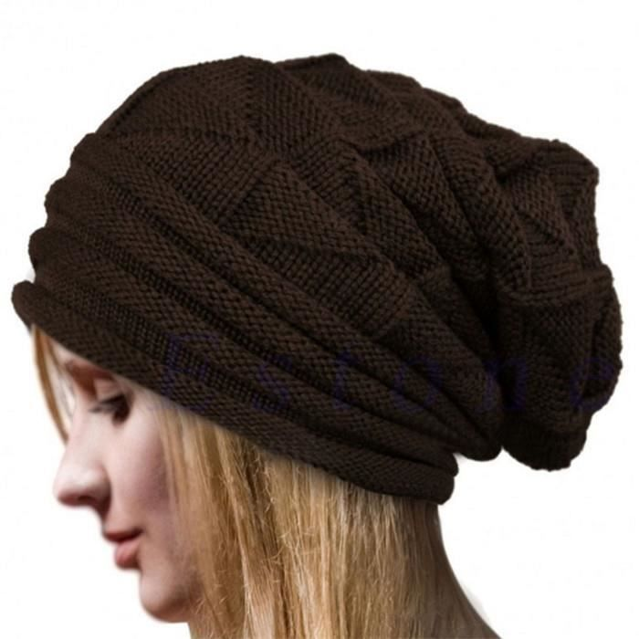 444c753b306 Mode Bonnet Femme Femmes Hiver Chapeau Femme Hiver Beanie Crochet Chapeau  Tricot Chaud Femmes Casquettes