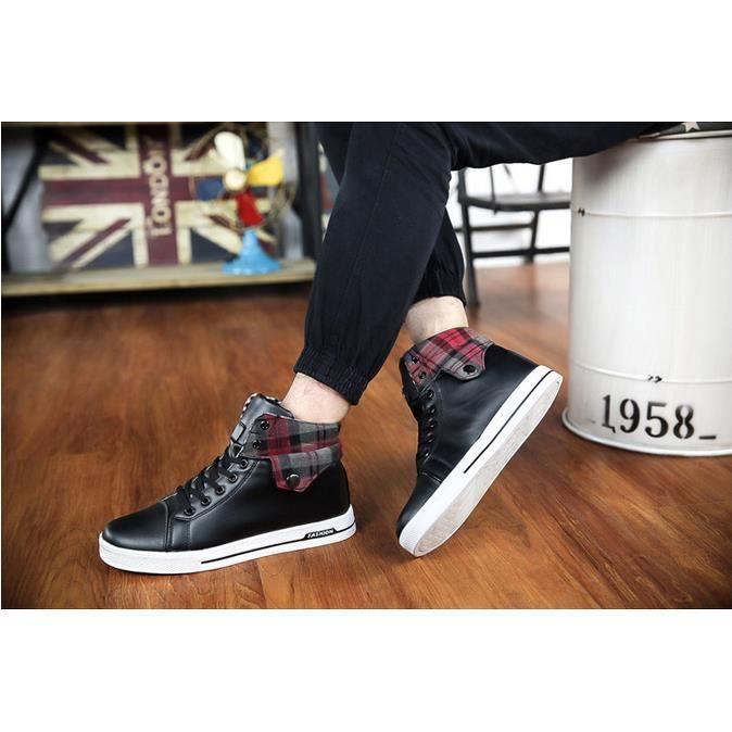 Hommes à lacets Chaussures de skate Chaussures plates