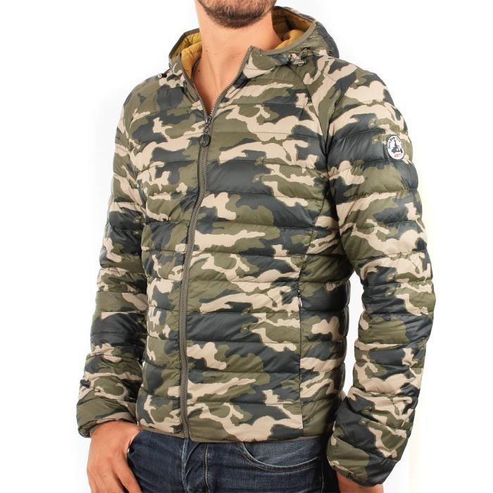 100% authentique 8e5fc d96ef Doudoune homme à capuche JOTT camouflage bicolore camouflage ...