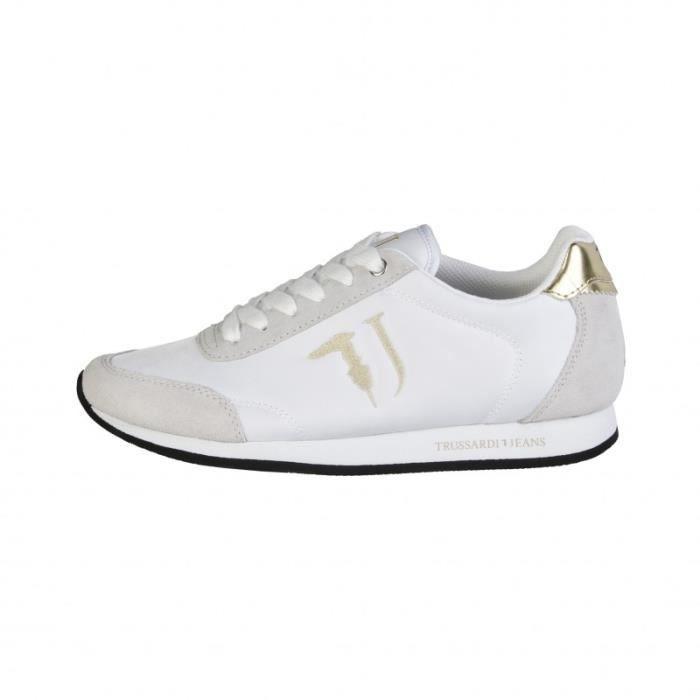Trussardi - Sneakers pour homme (77S605_216_GREY-WHT-YEL) - Gris Gris Gris - Achat / Vente basket  - Soldes* dès le 27 juin ! Cdiscount