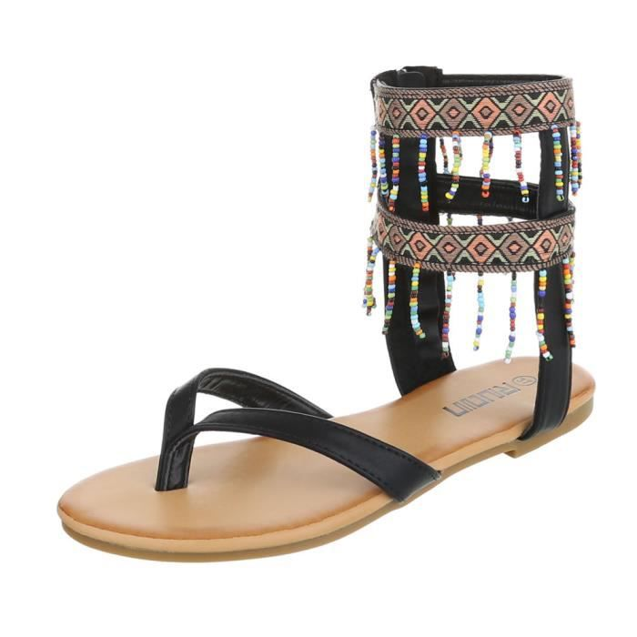 Chaussures femme sandales des tongs noir 41