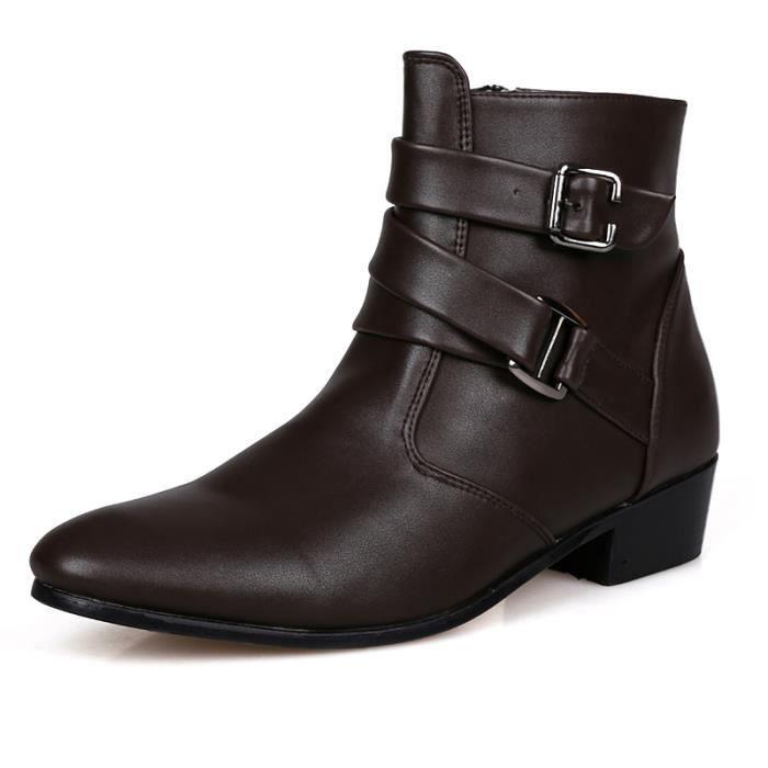 Courtes Étanches En Homme Cuir Bottes Chaussures 34AqRjL5