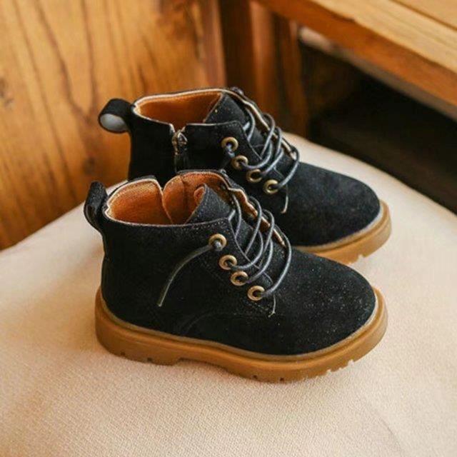 Bottes en cuir pour enfants Bottes en daim Chukka Boot Kids Chaussures Moc Toe 2017 garçons