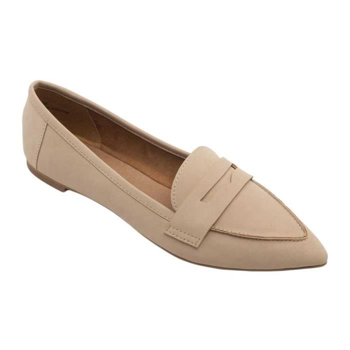 Margo Flats - Pointy Toe Penny Mocassins QS4HS Taille-37 1-2