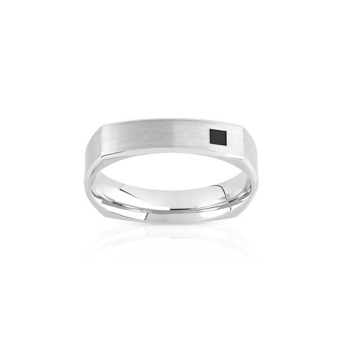 2a0d8e8ec00 MATY Alliance palladium 950 et diamant noir Argent - Achat   Vente ...