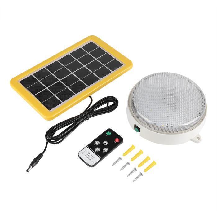 9dcea5c246840 3W LED Lampe de plafond de mur solaire avec Panneau solaire et  Télécommande--DQ FRANCE