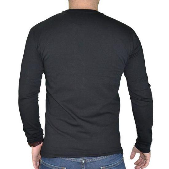 2a67190ee25c3 Calvin Klein - T Shirt Manches Longues - Homme - Jungle 304676 - Noir Noir  Noir - Achat   Vente t-shirt - Soldes  dès le 9 janvier ! Cdiscount