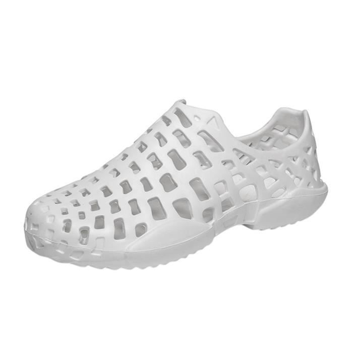 Chaussures Couple Unisexe Chaussures Sandale blanc Hommes Tongs Évider Plage Casual gqIwdx7