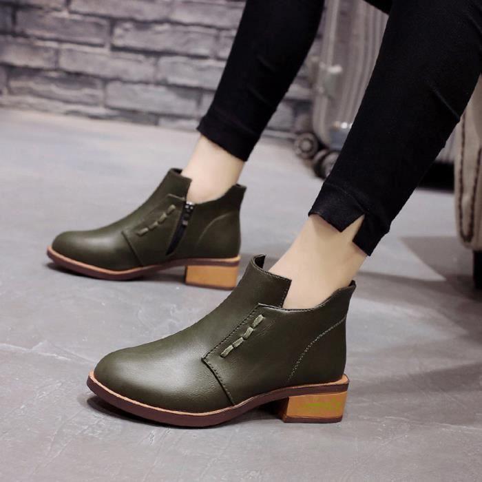 Simple Lacets Courtes Chaussures Femmes Bottes Martin 6110 Britannique r7TfwrxXq
