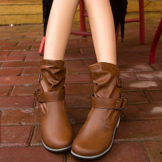 Classique Femmes & # 39; s Chaussures d'hiver pour les dames sexy chaud cheville fourrure Boucle bottes bottes beau,marron,37