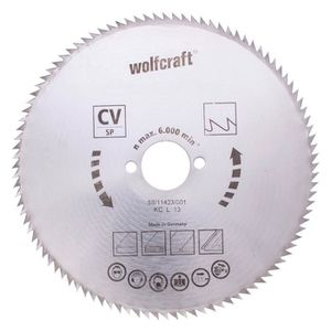 WOLFCRAFT Lame scie circulaire CV - 100 dents - ? 140 x 12.75 mm