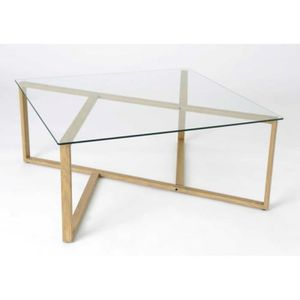 table basse carre moderne plateau verre transparen 30 Incroyable Table Basse Carrée Moderne Kgit4