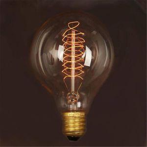 AMPOULE - LED Ampoule E27 G80 40W 220V Filament Lumière Rétro An