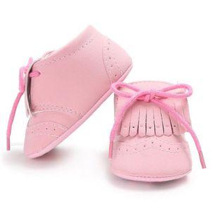BOTTE Infantile Bébé Filles Garçons Tassel Crib Chaussures Doux Semelle Anti-slip Sneakers Toile@BlancHM MzBGQ40z