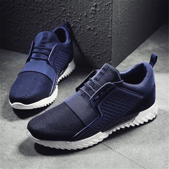 Baskets homme chaussures Extravagant Meilleure Qualité Antidérapant personnalité  ZY01 Bleu Bleu - Achat / Vente basket