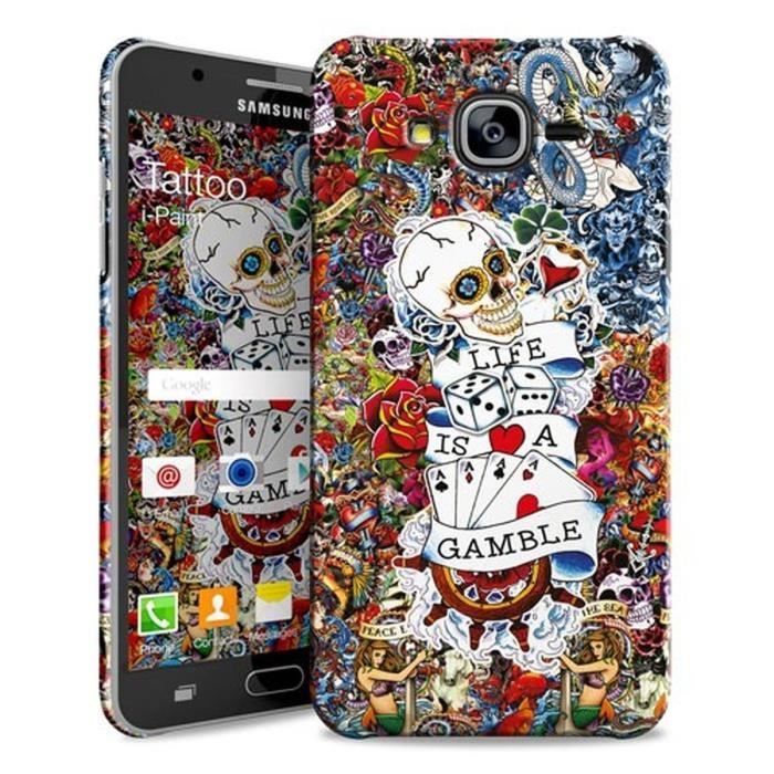 I-PAINT Coque Tattoo pour Galaxy J5 2016