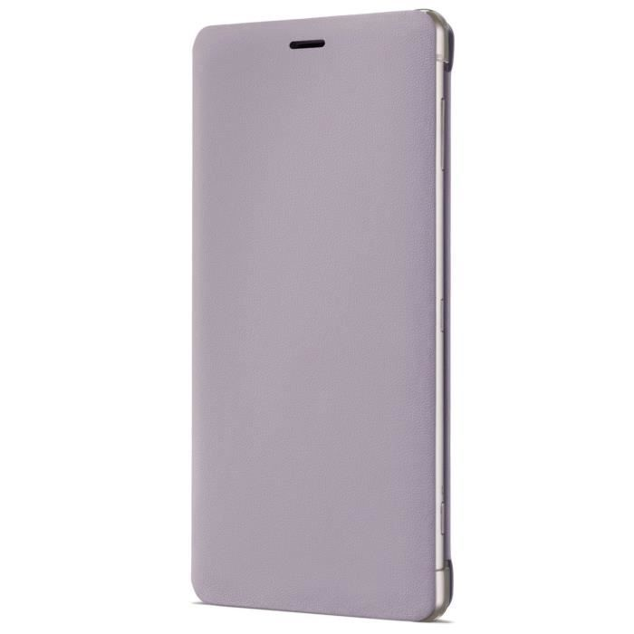 Sony Style Etui Cover Stand avec Support pour Xperia XZ2 Rose