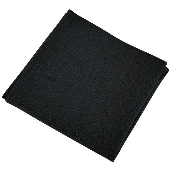 VENT DU SUD Lot de 12 serviettes de table YUCO - Gris basalte