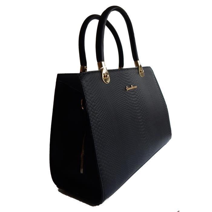 Grand sac cabas porté main ou épaule type Mickael Kors (Noir