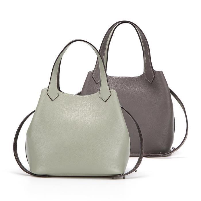 Un sac Plus (réversible) vert olive-mochagray, Grand AG7M6