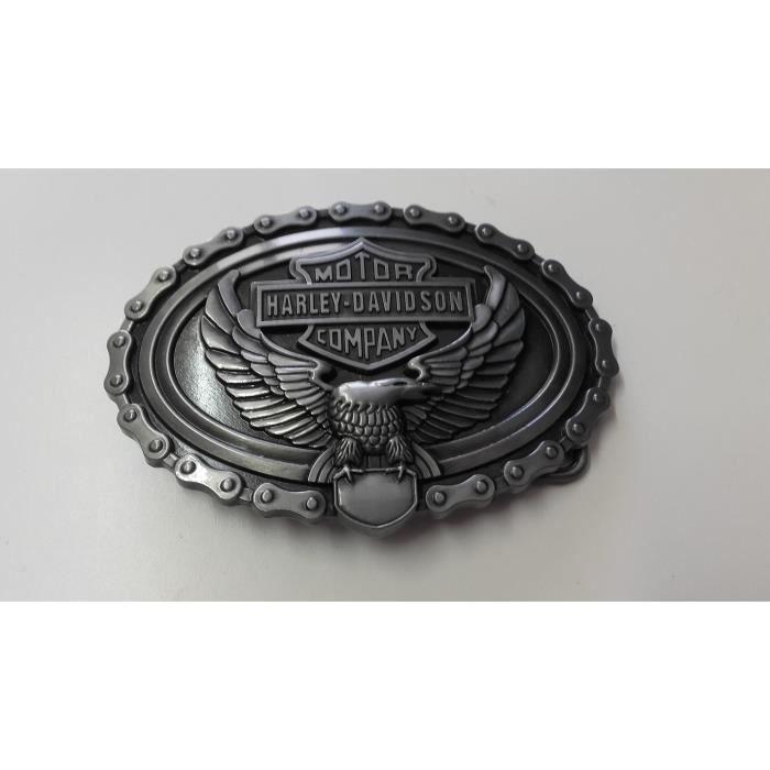b8c7cf18073b Ceinturon Aigle, Emblème Harley Davidson, Chaîne De Moto – American Legend  - Biker – Motar –Rock -Rétro