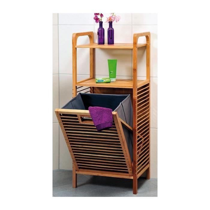 meuble de rangement avec tag res et panier l achat vente panier a linge meuble de. Black Bedroom Furniture Sets. Home Design Ideas