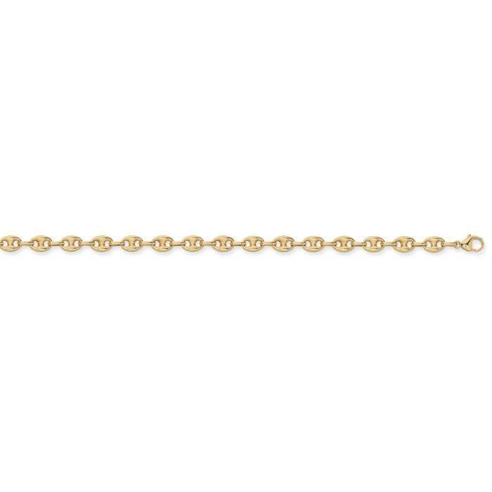 DIAMANTLYCollier grain de cafe or 750/1000 creux 5 mm - 50 cm