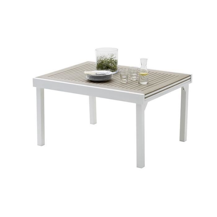 TABLE DE JARDIN MODULO POLYWOOD EXTENSIBLE 6 A 10 PLACES - Achat ...