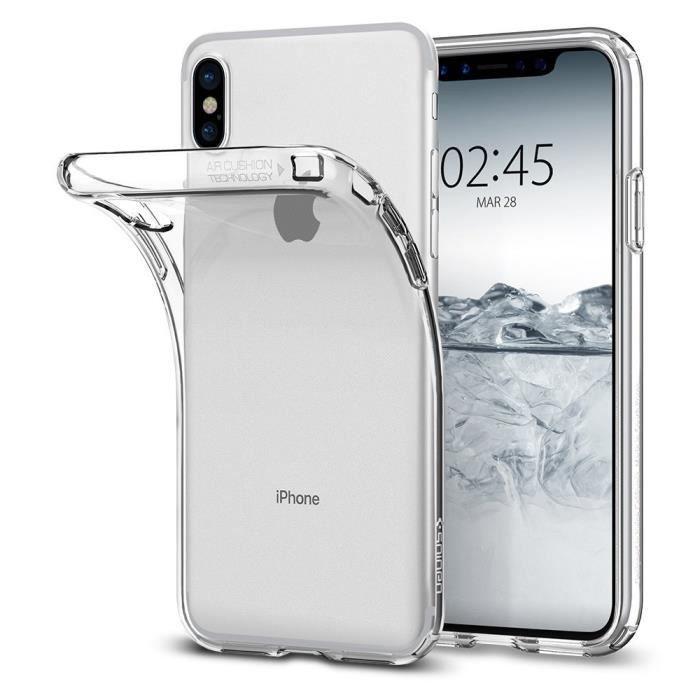 coque transparente iphone x silicone