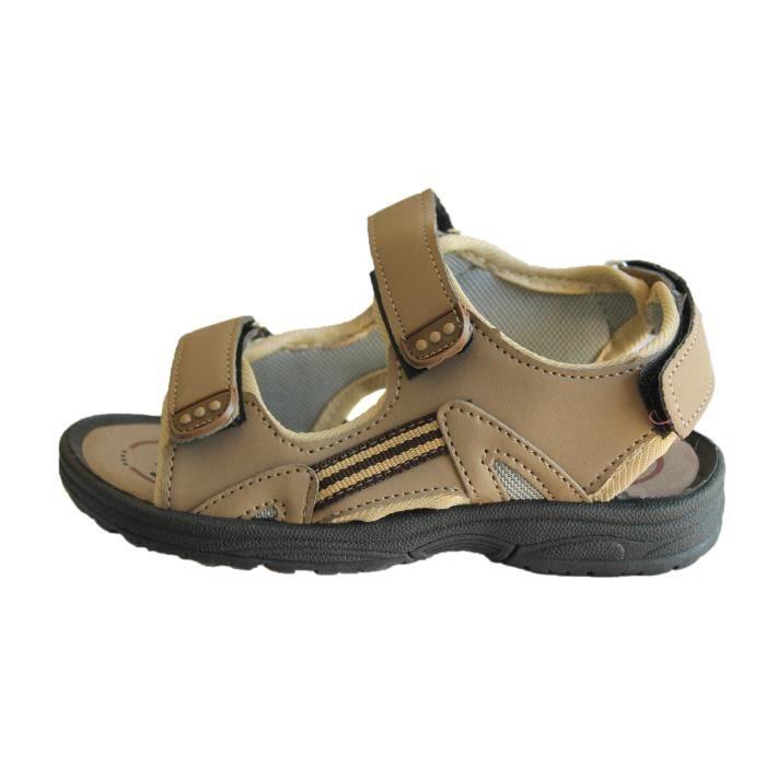sandale marron garçon