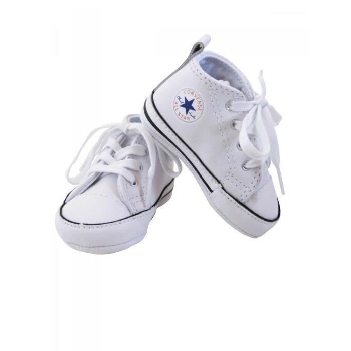 96ecbc2f886f2 BASKET CONVERSE - Baskets All star cuir blanc bébé garçon. Chaussures ...