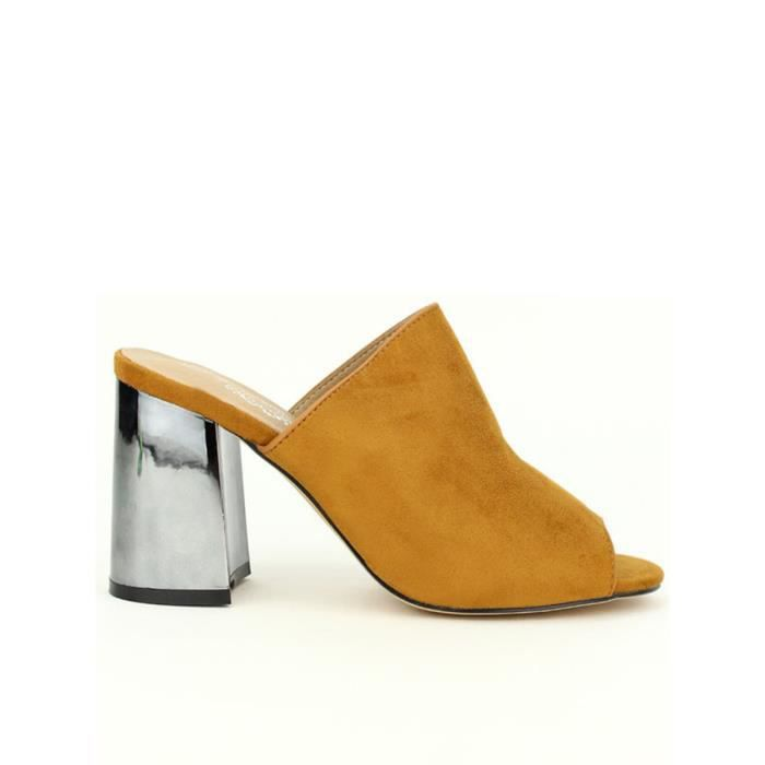 Femme pieds Chaussures Cendriyon Sandales nu sandale Caramel S6XwzTqx