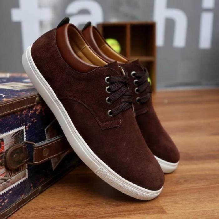SHELOVEIT® Chaussures Hommes Mocassins Cuir Nubuck ...