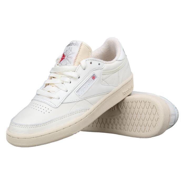 8055ba53870e9 Basket Reebok Club C 85 Vintage Bs8243 Chalk-si... Blanc Blanc ...