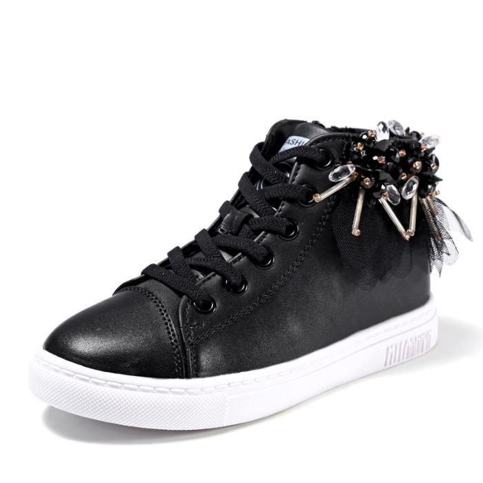Chaussures De Sport Pour Femme en daim Textile De Course Populaire BXFP-XZ127Noir38 91SHAw