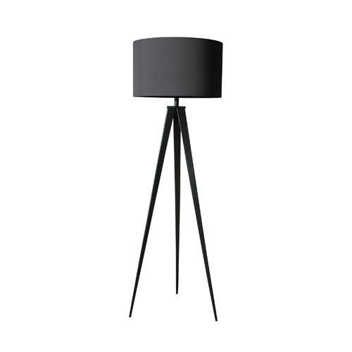 lampadaire pieds acier noir achat vente lampadaire pieds acier noir m tal textile cdiscount. Black Bedroom Furniture Sets. Home Design Ideas