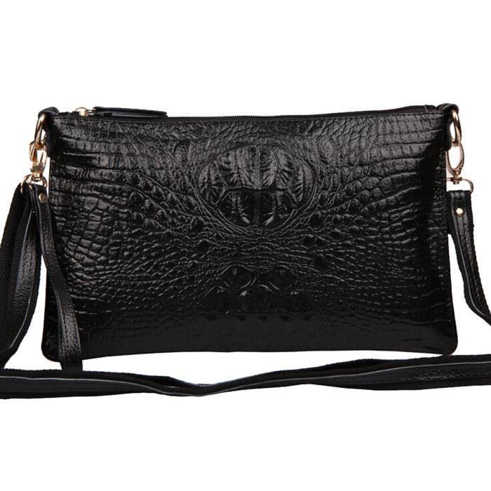 Véritable sac à main en cuir pour femmes embrayage sac à bandoulière alligator bandoulière XW0LP