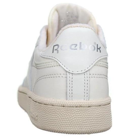 9a685b168147d Basket Reebok Club C 85 Vintage Bs8243 Chalk-si... Blanc Blanc - Achat   Vente  basket - Soldes  dès le 9 janvier ! Cdiscount